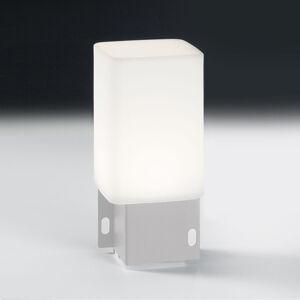 ALMA LIGHT BARCELONA Vonkajšia deko LED lampa Cuadrat – 1x USB, biela