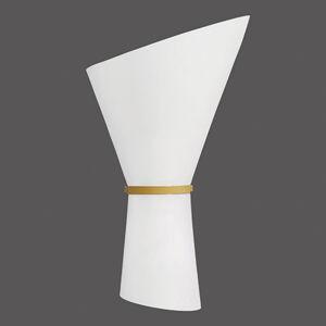 ACB ILUMINACIÓN Nástenné svietidlo Perla, 2-plameňové, opál/zlato
