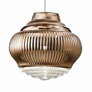 Ailati Závesná lampa Bonnie 130cm bronzová metalická