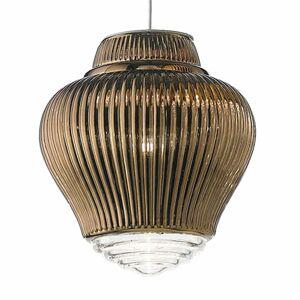 Ailati Závesná lampa Clyde 130cm bronzová metalická