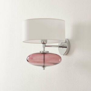 Ailati Nástenné svetlo Show Elisse sklenený prvok ružový