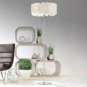 Artempo Italia Stojaca lampa Piantana Ellix biely drevený vzhľad