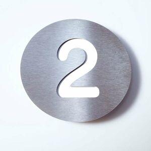 Absolut/ Radius Číslo domu Round z ušľachtilej ocele – 2
