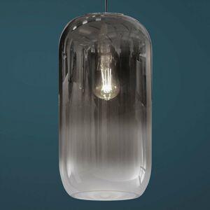 Artemide Sklenená závesná lampa Artemide Gople, striebro