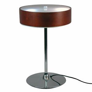 Aluminor Vznešená stolná lampa Malibu dekor ebenové drevo
