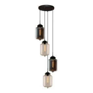 ALTAVOLA DESIGN Závesná lampa LA011 4-pl. dymová sivá/číra