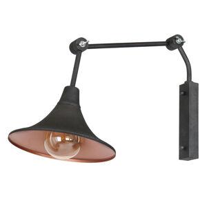 ALDEX Nástenné svietidlo 785, jedno-plameňové grafit/meď