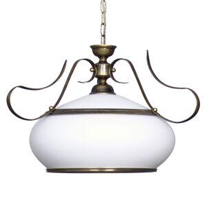 ALDEX Závesná lampa 493 sklo opál/zlatá starožitná 1-pl.