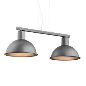 EULUNA Závesná lampa Amaro, 2-plameňová, antracit