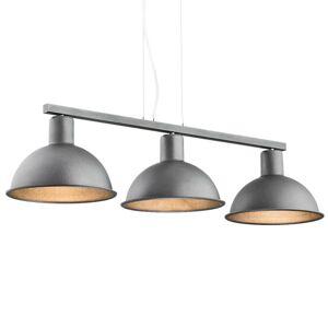 EULUNA Závesná lampa Amaro, 3-plameňová, antracit