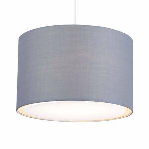 Brilliant Klasicky-moderná závesná lampa Clarie, sivá
