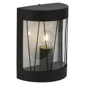 Brilliant Vonkajšie svietidlo Reed čierne, polkruhový tvar