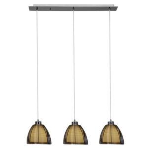 Brilliant Závesná lampa Relax, 3-plameňová bronz