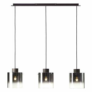 Brilliant Závesná lampa Beth sklené tienidlá/tri svetlá