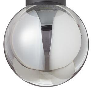 Brilliant Stropné svietidlo Astro guľaté dymové sivé Ø25cm