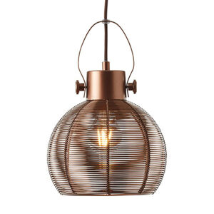 Brilliant Závesná lampa Sambo klietkové tienidlo 1-pl. hnedé