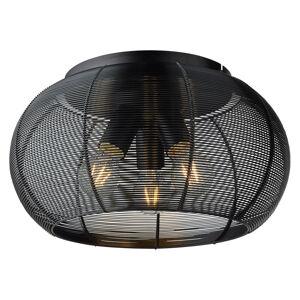 Brilliant Stropné svietidlo Sambo klietkové tienidlo, čierne