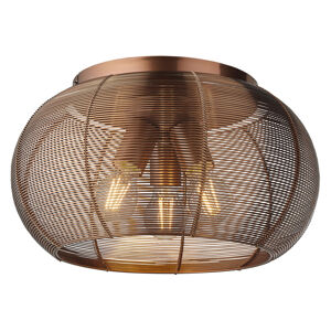 Brilliant Stropné svietidlo Sambo, klietkové tienidlo, hnedé