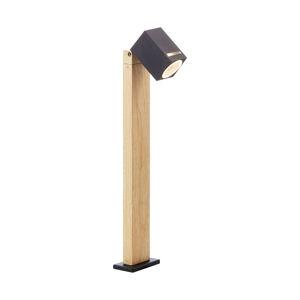Brilliant Soklové svietidlo Galeni drevený vzhľad, otočné