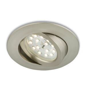 Briloner Pohyblivé zapustené LED svetlo Erik matný nikel