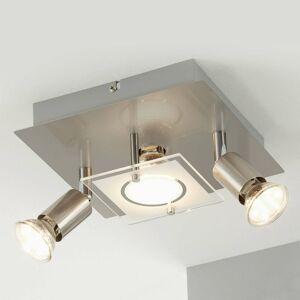 Briloner Matne poniklované stropné LED svietidlo Štart 3pl