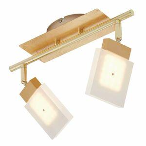 Briloner Stropné LED svietidlo Glam v zlate 2-pl.