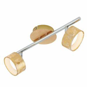 Briloner Stropné LED svetlo Anna 2-plameňové v zlate