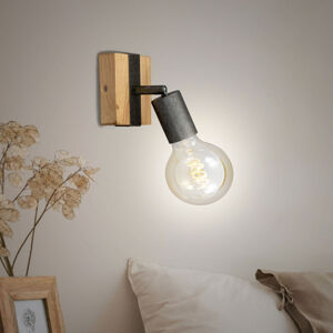Briloner Nástenné svietidlo Wood Basic, jedno-plameňové