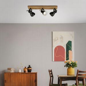 Briloner Stropné svetlo Arbo drevený prvok, 3-plameňové