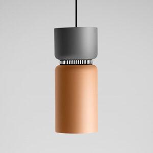 B.lux Závesné LED Aspen S sivo-mangová 17cm, dlhé