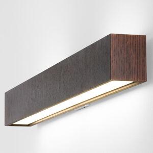 B.lux Dlhé nástenné LED svietidlo Quadrat W wenge