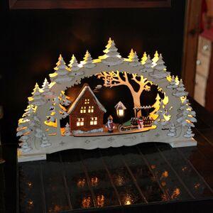 STAR TRADING Detailne navrhnutý svetelný oblúk Village – LED