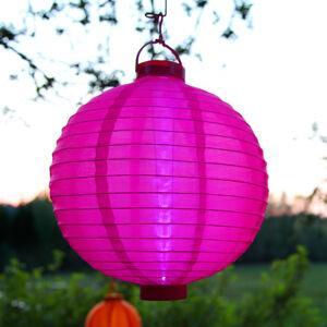 Best Season Solárny LED lampión Jerrit v žiarivej ružovej