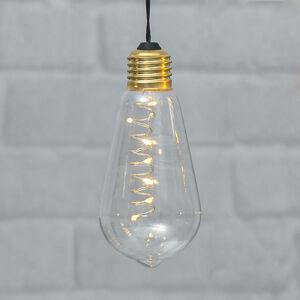 Best Season Vintage dekoračná LED lampa Glow s časovačom, číra