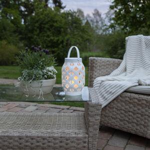 Best Season LED lampáš Flame Lantern, biela, 23 cm