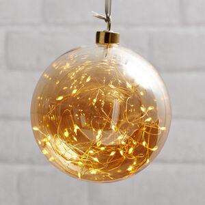 Best Season LED deko guľa Glow, skla, Ø 15cm jantárová