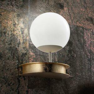 BRAGA Nástenné LED svietidlo Sfera v zlatom prevedení