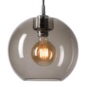 BELID Závesná lampa Gloria chróm/dymové sklo Ø 26cm