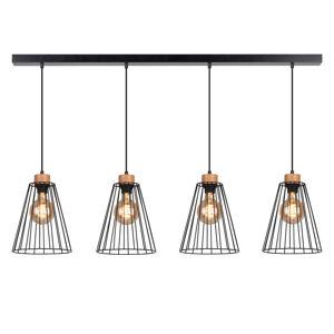 BRITOP Závesná lampa Cailand so 4 klietkovými tienidlami