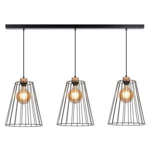 BRITOP Závesná lampa Cailand s 3 klietkovými tienidlami