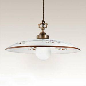 Cremasco Závesná lampa Bassano, 1-pl., hnedé detaily