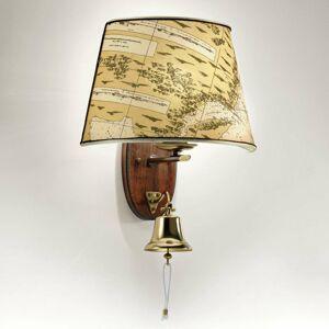 Cremasco Nástenné svietidlo Nautica 46cm s lodným zvončekom