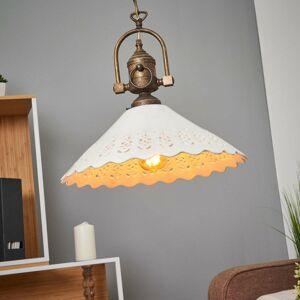 Ceramiche Závesná lampa Pizzo s reťazou, 1-plameňová