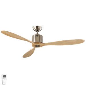 CASAFAN Stropný ventilátor Aeroplan Eco, chróm, drevo