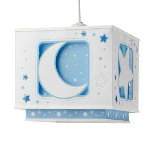 Dalber Fluoreskujúca závesná lampa NOČNÁ OBLOHA modrá