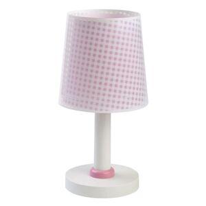 Dalber Detská stolná lampa Vichy ružová