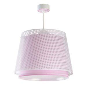 Dalber Detská závesná lampa Vichy, 1-pl., ružová