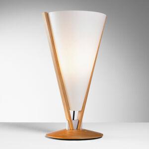 Domus SEBA stolná lampa s ručným vypínačom, buk