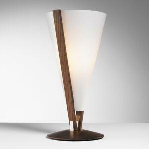Domus SEBA stolná lampa s ručným vypínačom, gaštan