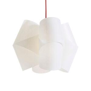 Domus Závesná lampa Julii, bielo-červená Ø 36cm